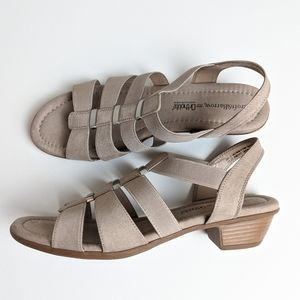 Croft & Barrow Ortholite beige sandals size 11